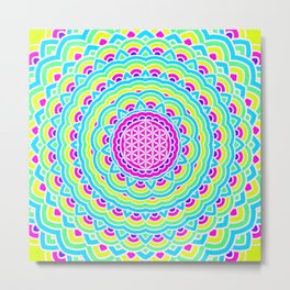 Flower Of Life Mandala 3 Metal Print