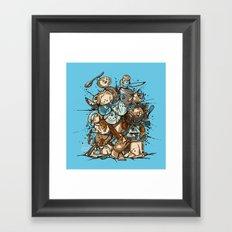 Kitchen Fight Framed Art Print