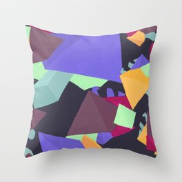 Pyramid Gems Throw Pillow