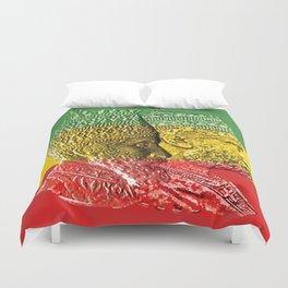 Haile Selassie King Menelik Duvet Cover