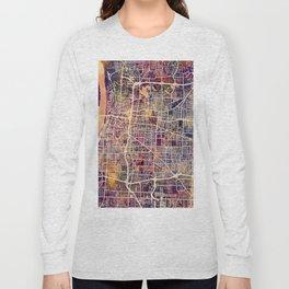 Memphis Tennessee City Map Long Sleeve T-shirt