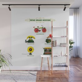 ORGANIC INVENTIONS SERIES: Vintage Organic Inventions Wall Mural