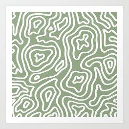 Topographic Abstract | Sage Art Print