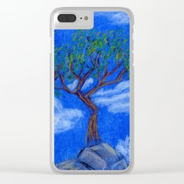 REALLY Blue Bonsai Clear iPhone Case
