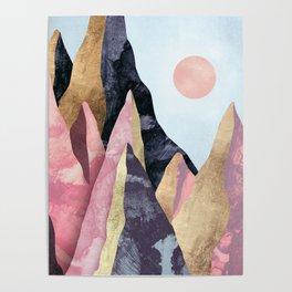Mauve Peaks Poster