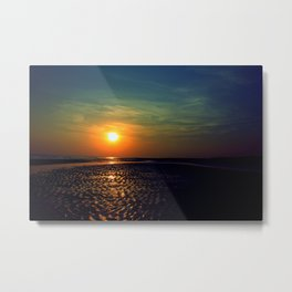 Sunset in Kutch Metal Print