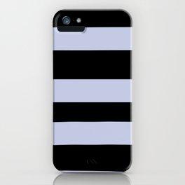 Illuminated Violet - Twilight Mist - Carousel Purple Hand Drawn Fat Horizontal Lines On Black iPhone Case