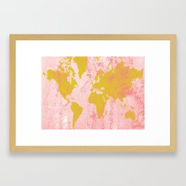 COME WITH ME AROUND THE WORLD Framed Art Print