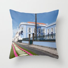 Palace in Azores Throw Pillow