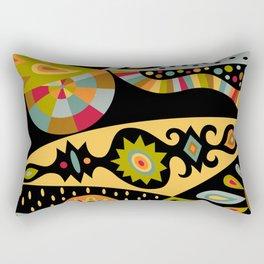 bohemian black Rectangular Pillow