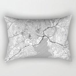 New Haven Map Line Rectangular Pillow