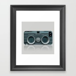 Camera Vintage Stereo  Framed Art Print