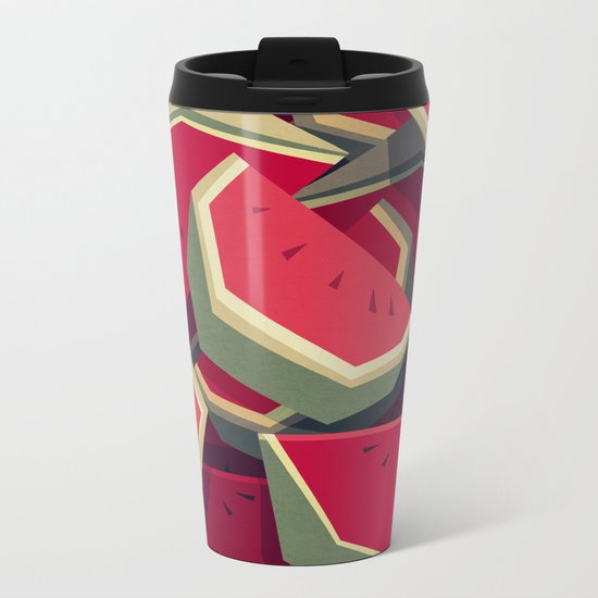 Too many watermelons Metal Travel Mug