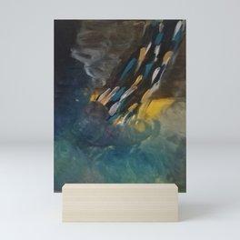 Golden Waterfall Mini Art Print