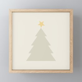 Scandi Christmas Tree Framed Mini Art Print
