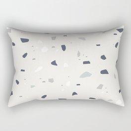 Midnight Navy Gray Creme Terrazzo #1 #decor #art #society6 Rectangular Pillow