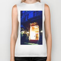 outdoor Biker Tanks featuring In Through the Outdoor~ New York City by 13th Moon Social Club