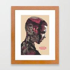 Stranger Things - Poster V2 Framed Art Print