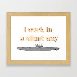 German Submarine Silent Introvert Framed Art Print