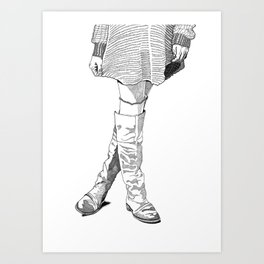 Leather Boots Art Print