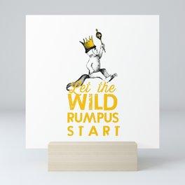 Let The Wild Rumpus Start Mini Art Print