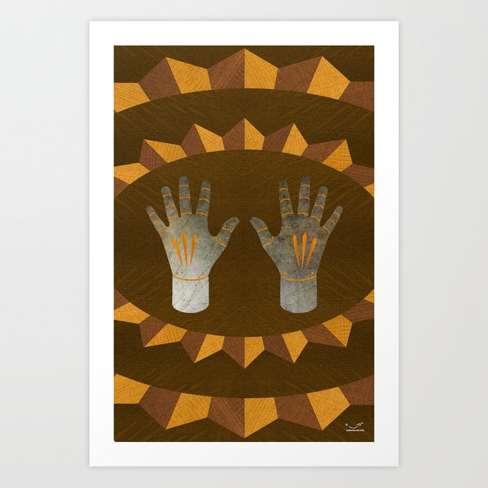 The English Accent - (ASL Marquetry Series) Art Print