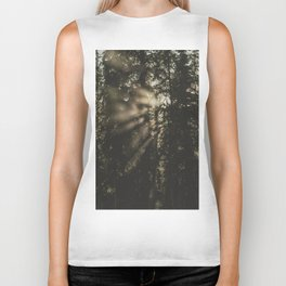 Sunset in the Woods - Nature Photography Biker Tank