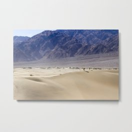 Couple Walking in Sand Dunes - Death Valley Metal Print