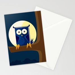 Book Owl Stationery Cards