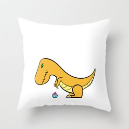 "A Real Tee For A Fat You Saying ""Struggle Is Real"" T-shirt Design Dinosaur T-rex Mommasaurus Belly Throw Pillow"