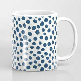 Navy Blue Spotted Pattern Coffee Mug
