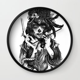 Chicana Wall Clock