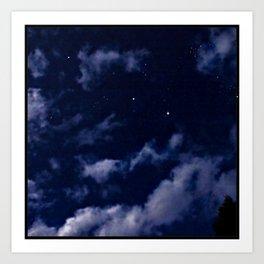 BLUE NIGHT SKY Art Print