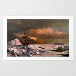 Ship trapped in Pack Ice by William Bradford - Hudson River School Vintage Painting Art Print