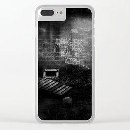 DANGER IS MOST REAL AT NIGHT... Clear iPhone Case