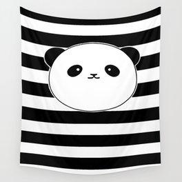Cute, stripy Panda Face Wall Tapestry