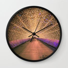 Winter illumination Wall Clock