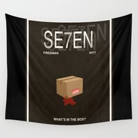 movie poster Wall Tapestries featuring Seven Movie Poster by Finlay McNevin