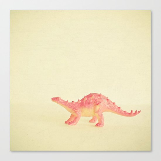 Pink Dinosaur Canvas Print