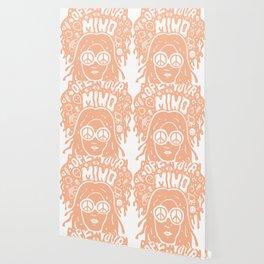 Open Your Mind in orange Wallpaper
