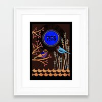 tits Framed Art Prints featuring Tits by Kate McLelland