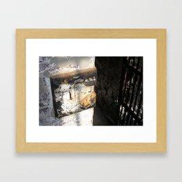 Old Jail Cell  Framed Art Print