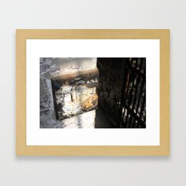 Old Jail Cell  Framed Art Print