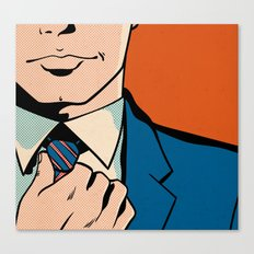 Untitled (Man Adjusting Tie) Canvas Print
