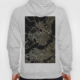 Wilkes-Barre Gold and Black Map Hoody