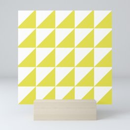 Scandinavian Pattern 01 Yellow Mini Art Print