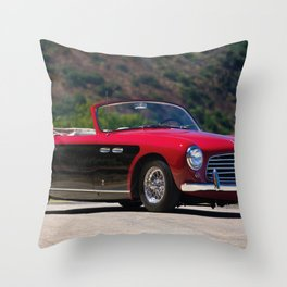1951 Siata-American 208s Cabriolet Speciale by Stabilimenti Farina Throw Pillow