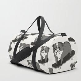 Skateboarding English Bulldog Duffle Bag