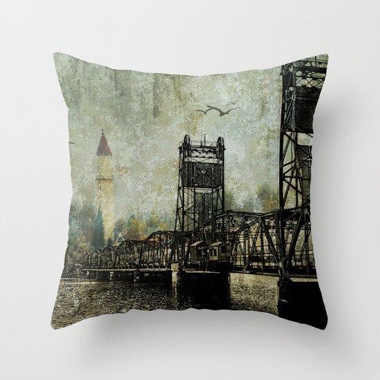 Beyond the Bridge Throw Pillow