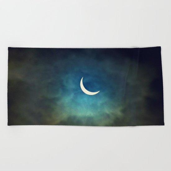 Solar Eclipse 1 Beach Towel